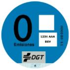Etiqueta CERO pila de combustible de hidrógeno