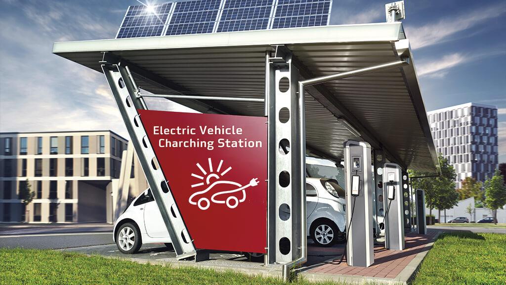 Estación de carga coche eléctrico