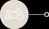 Motocicleta deshabilitado