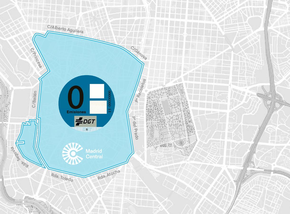 Mapa de Madrid Emisiones 0
