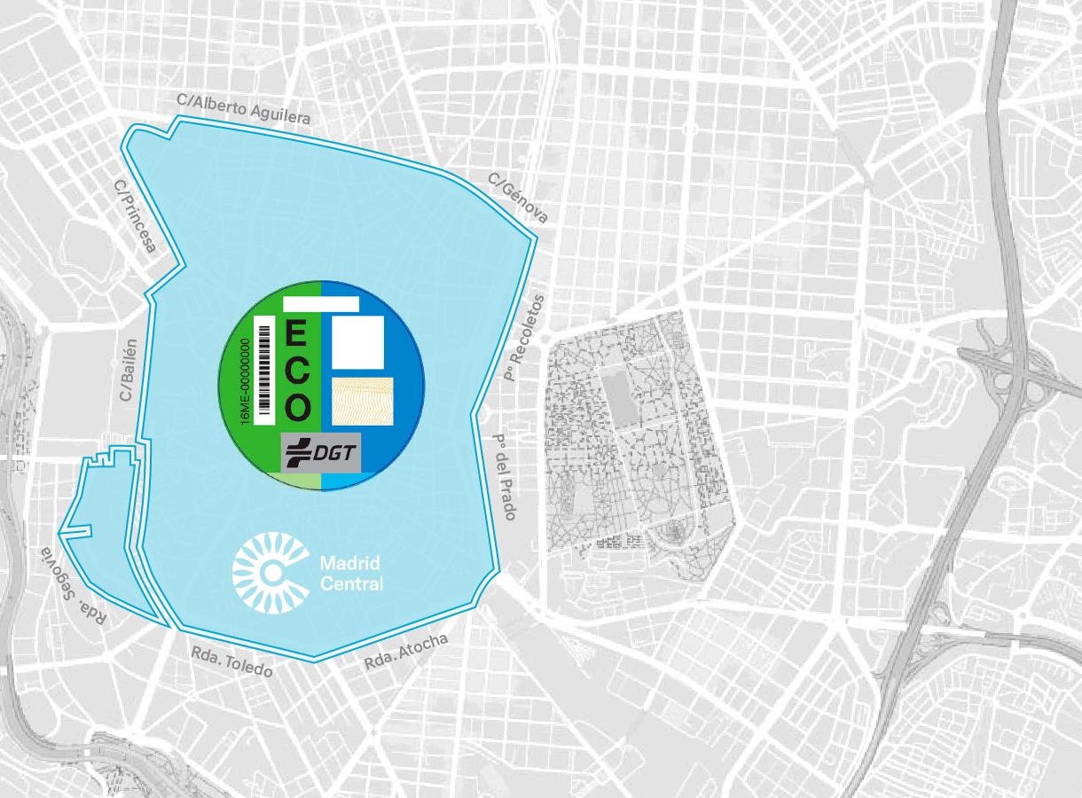 Mapa de Madrid Etiqueta ECO