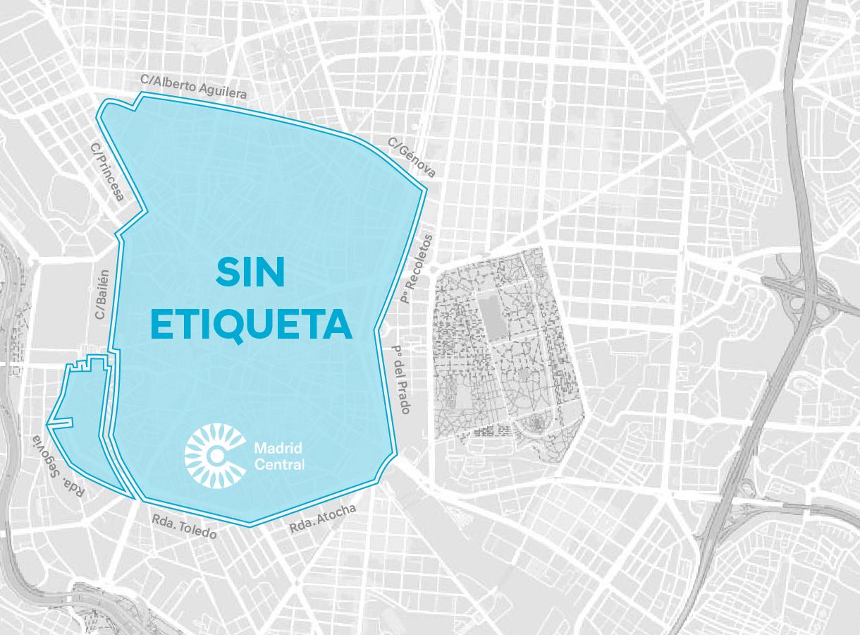 Mapa de Madrid Sin Etiqueta
